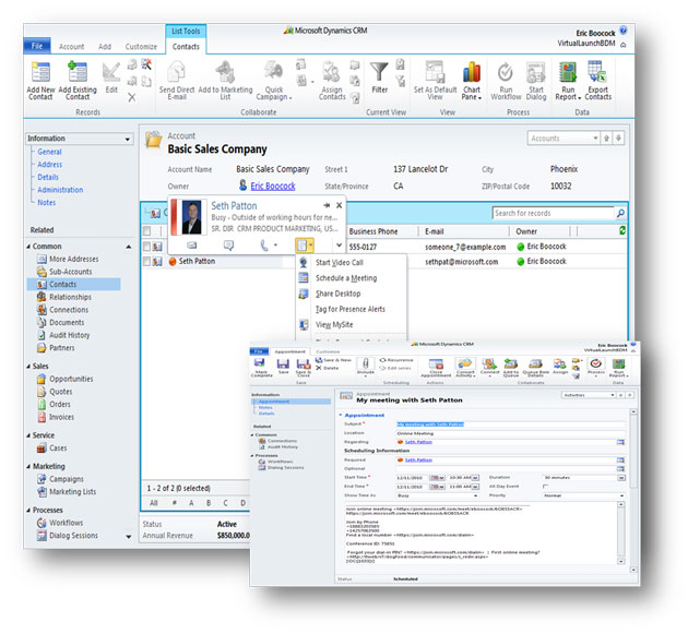 Integrated with microsoft office applications and microsoft crm